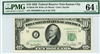 2010-JW Wide, $10 Federal Reserve Note Kansas City, 1950