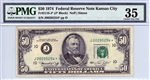 2118-J* (J* Block), $50 Federal Reserve Note Kansas City, 1974