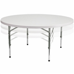 "Adjustable  Wholesale Prices 60"" Round Plastic Folding table, Wholesale Prices for Round Plastic Folding Tables,  California Tables, Banquet Resin Tables,,"