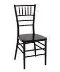 Steel Core Resin Chiavari Chair Black.