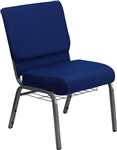 Blue Chair w Bookrack -church chairs, church chairs for sale, church chairs, worship chairs, church furniture, sillas de iglesia, conference sanctuary seating,