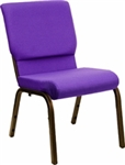 "18.5"" Purple Chapel Chair"