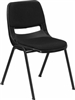 Black Stack Chair w Cushion