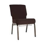 "Brown 21"" Chapel Chair, Cheap Pew Chairs, Chapel Chairs, Church Chairs, Wholesale Chapel Chairs"