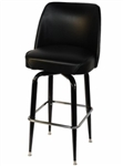 Single Ring Black Metal Barstool