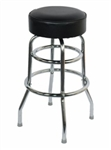 Double Ring Chrome Barstool