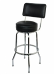 Single Ring Chrome Barstool with Back