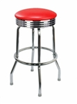 Single Ring Chrome Barstool Retro
