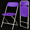 Purple  Plastic Folding Chair - Cheap Plastic folding chairs, White Poly Samsonite Folding Chairs, lowest prices folding chairs