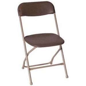 Brown Plastic Folding Chair, Poly Brown Wholesale Chairs, lowest prices plastic folding chair