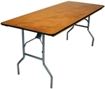 "30 x 72"" Quality Plywood Folding Banquet Tables - Folding Banquet Wood Tables,- Banquet Wood Tables"