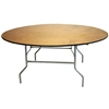 "72"" Round Plywood Folding Table, Plywood Folding Tables"