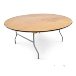 "72"" Round Plywood Round Folding Tables"