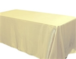 "Ivory 90 x 156"" Satin Banquet Tablecloth"