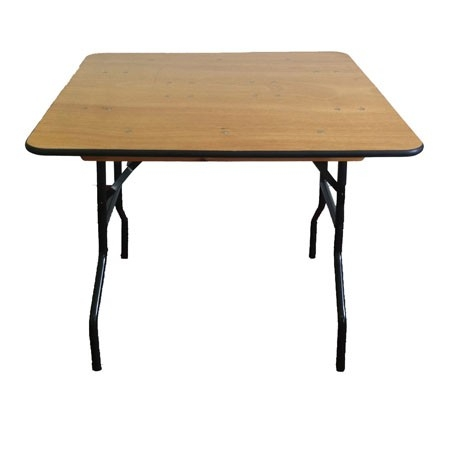 ... Square Plywood Folding Commercial Table Larger Photo Email A Friend