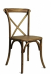 PECAN CROSS  X BACK CHAIRS