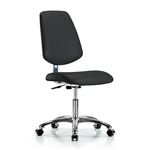 Perch Cleanroom Vinyl Chair Large Back