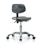Perch Ergonomic Industrial Chair in Chrome