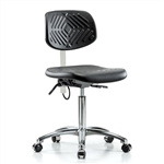 Perch Ergonomic Industrial Chair in Chrome ESD