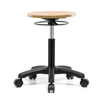 Perch Wood Pneumatic Stool