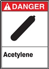 Danger Label Acetylene