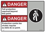Danger Fall Protection Required Beyond This Point