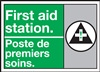 Danger First Aid Station Sign