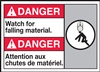 Danger Label WatchForFallingMaterial