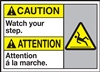 ANSI Caution Label Watch Your Step