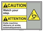 ANSI Caution Label This Machine Starts And Stops Automatically
