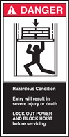 Danger Label Hazardous Condition