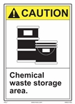 CautionChemical Waste Storage Area