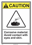 CautionCorrosive Material. Avoid Contact With Eyes And Skin