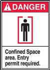 Danger Confined Space Area. Entry Permit Required