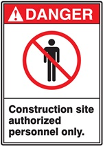 Danger Label Construction Site