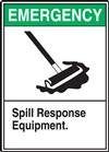 Emergency Spill Response Equipment Label