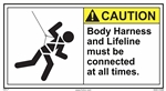 CautionBody Harness And Lifeline Must Be Connected At All Times