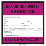 Asbestos Hazardous Waste Label