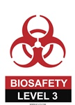 Biosafety Level 2 Magnetic Sign