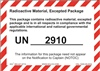 Radioactive Material - UN 2910 Label | HCL Labels