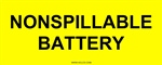 Non-Spillable Battery Label HCL Labels