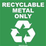 Recyclable Metal Only Label