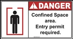 Danger - Confined Space Area Sign | HCL Labels, Inc.