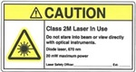 Caution - Class 2M Laser in Use
