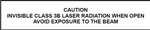 Caution - Invisible Class 3B Laser Label