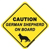 Caution - German Shepherd On Board - Sticker