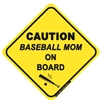 Baseball Mom On Board - Sticker