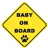 Baby On Board (Pawprint) - Sticker