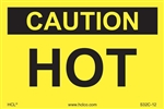 Caution Hot Label
