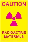 Caution Label - Radioactive Materials